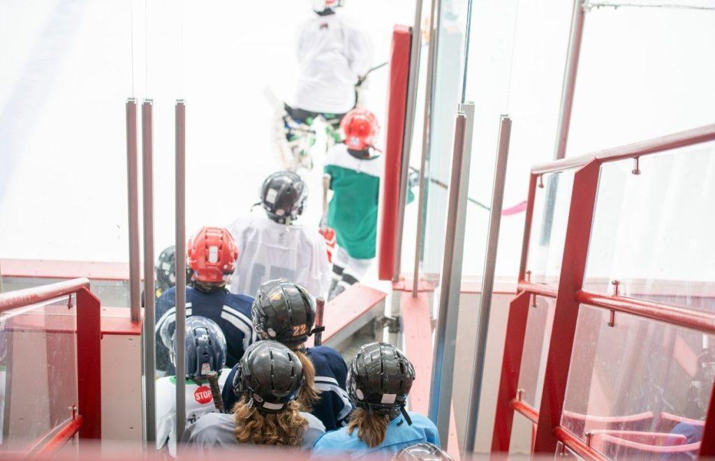 Introducing Kids To Ice Hockey at a local skating rink